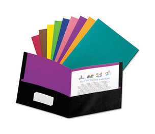 ESSELTE CORPORATION 55774 Twisted Twin Pocket Folder, 100-Sheet Capacity, Assorted by ESSELTE PENDAFLEX CORP.