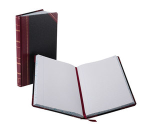 ESSELTE CORPORATION 9-300-R Record/Account Book, Black/Red Cover, 300 Pages, 14 1/8 x 8 5/8 by ESSELTE PENDAFLEX CORP.