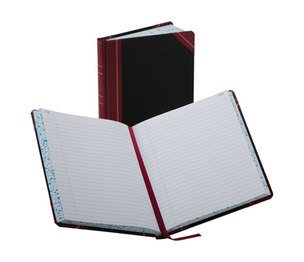 ESSELTE CORPORATION 38-300-R Record/Account Book, Record Rule, Black/Red, 300 Pages, 9 5/8 x 7 5/8 by ESSELTE PENDAFLEX CORP.