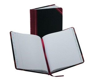 ESSELTE CORPORATION 38-150-R Record/Account Book, Record Rule, Black/Red, 150 Pages, 9 5/8 x 7 5/8 by ESSELTE PENDAFLEX CORP.