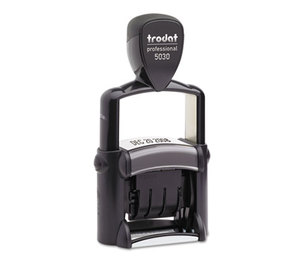 U.S. Stamp & Sign 5002 Trodat Professional Stamp, Dater, Self-Inking, 1 5/8 x 3/8, Black by U. S. STAMP & SIGN