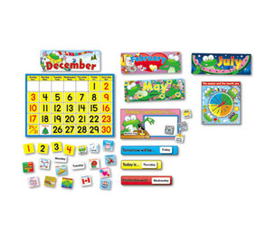 Carson-Dellosa Publishing Co., Inc 110076 Frog Calendar Bulletin Board Set by CARSON-DELLOSA PUBLISHING