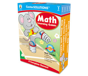 Carson-Dellosa Publishing Co., Inc 140051 Math Learning Games, Four Game Boards, 2-4 Players, Grade 1 by CARSON-DELLOSA PUBLISHING