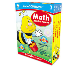 Carson-Dellosa Publishing Co., Inc 140052 Math Learning Games, Four Game Boards, 2-4 Players, Grade 2 by CARSON-DELLOSA PUBLISHING
