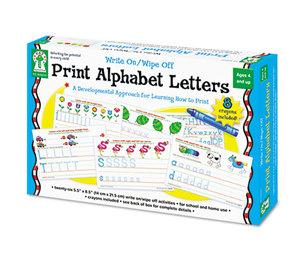 Carson-Dellosa Publishing Co., Inc 846035 Write-On/Wipe-Off Print Alphabet Letters Activity Set, Ages 4 and Up by CARSON-DELLOSA PUBLISHING