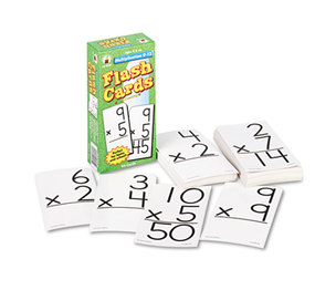 Carson-Dellosa Publishing Co., Inc CD-3930 Flash Cards, Multiplication Facts 0-12, 3w x 6h, 94/Pack by CARSON-DELLOSA PUBLISHING