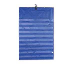 Carson-Dellosa Publishing Co., Inc 5601 Essential Pocket Chart, 10 Clear & 1 Storage Pocket, Grommets, Blue, 31 x 42 by CARSON-DELLOSA PUBLISHING
