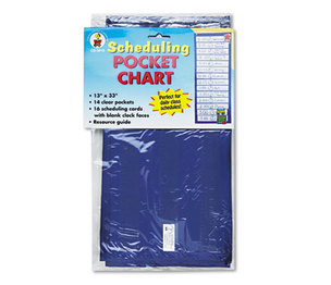 Carson-Dellosa Publishing Co., Inc 5615 Scheduling Pocket Chart with 16 Cards, Guide, Hanging Grommets, 12 x 33 by CARSON-DELLOSA PUBLISHING