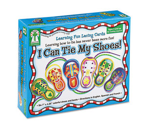I Can Tie My Shoes! Lacing Cards, Ages 4 and Up by CARSON-DELLOSA PUBLISHING