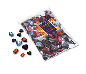 The Chenille Kraft Company 3584 Gemstones Classroom Pack, Acrylic, 1 lbs., Assorted Colors/Sizes by THE CHENILLE KRAFT COMPANY