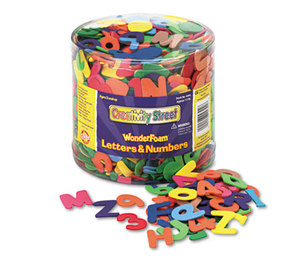 The Chenille Kraft Company 4304 Wonderfoam Letters and Numbers, 1/2 Lb. Tub, Approximately 1,500 Pieces by THE CHENILLE KRAFT COMPANY