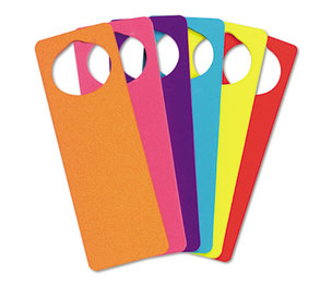 The Chenille Kraft Company 4379 WonderFoam Door Knob Hangers, Six Assorted Colors by THE CHENILLE KRAFT COMPANY