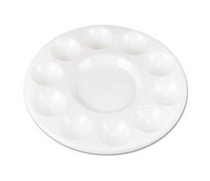 The Chenille Kraft Company 5924 Round Plastic Paint Trays for Classroom, White, 10/Pack by THE CHENILLE KRAFT COMPANY