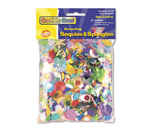 The Chenille Kraft Company 6114 Sequins & Spangles, Assorted Metallic Colors, 4 oz/Pack by THE CHENILLE KRAFT COMPANY