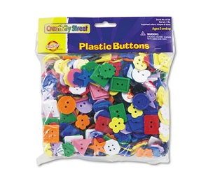 The Chenille Kraft Company 6120 Plastic Button Assortment, 1 lbs., Assorted Colors/Sizes by THE CHENILLE KRAFT COMPANY