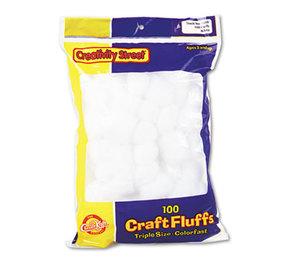 The Chenille Kraft Company 6400 Craft Fluffs, White, 100/Pack by THE CHENILLE KRAFT COMPANY