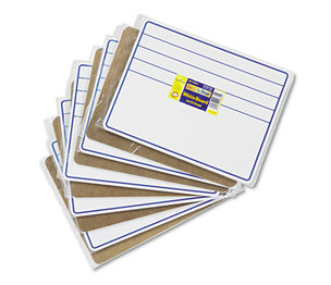 The Chenille Kraft Company 9882-10 Student Dry-Erase Boards, 12 x 9, Blue/White, 10/Set by THE CHENILLE KRAFT COMPANY