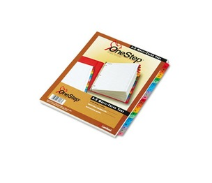 Cardinal Brands, Inc 60218 Traditional OneStep Index System, 26-Tab, A-Z, Letter, Multicolor, 26/Set by CARDINAL BRANDS INC.