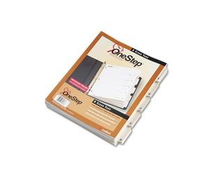 Cardinal Brands, Inc 60533 QuickStep OneStep Bulk Index System, Title: 1-5, Letter, White, 24 Sets/Box by CARDINAL BRANDS INC.