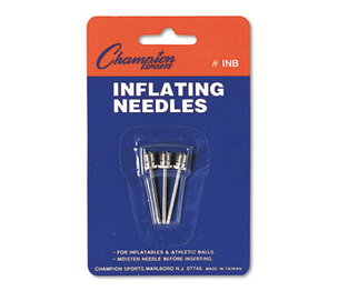 CHAMPION SPORTS INB Nickel-Plated Inflating Needles for Electric Inflating Pump, 3/Pack by CHAMPION SPORT