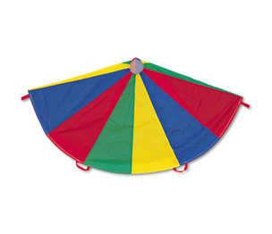 Nylon Multicolor Parachute, 12-ft. diameter, 12 Handles by CHAMPION SPORT