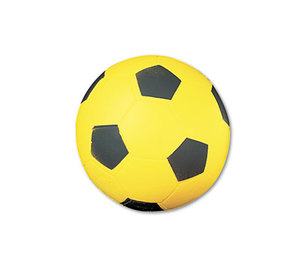 CHAMPION SPORTS SFC Coated Foam Sport Ball, For Soccer, Playground Size, Yellow by CHAMPION SPORT