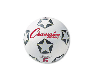CHAMPION SPORTS SRB4 Rubber Sports Ball, For Soccer, No. 4, White/Black by CHAMPION SPORT