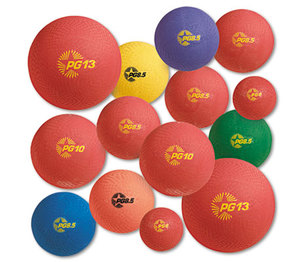 CHAMPION SPORTS UPGSET1 Playground Ball Set, Multi-Size, Multi-Color, Nylon, 14/Set by CHAMPION SPORT