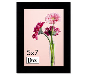 DAX MANUFACTURING INC. 1826H3T Solid Wood Photo/Picture Frame, Easel Back, 5 x 7, Black by DAX MANUFACTURING INC.