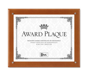 DAX MANUFACTURING INC. N100WT Plaque-In-An-Instant Kit w/Certs & Mats, Wood/Acrylic, Up to 8 1/2 x 11, Walnut by DAX MANUFACTURING INC.