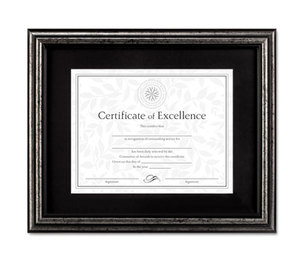 DAX MANUFACTURING INC. N15790ST Document Frame, Desk/Wall, Wood, 11 x 14, Antique Charcoal Brushed Finish by DAX MANUFACTURING INC.