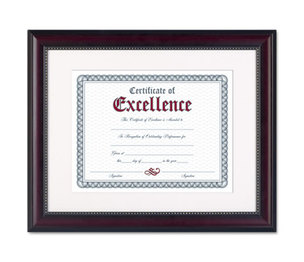 DAX MANUFACTURING INC. N3028S2T Prestige Document Frame, Matted w/Cert, Rosewood/Black, 11 x 14, 8 1/2 x 11 by DAX MANUFACTURING INC.