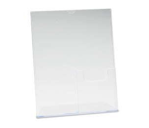Deflecto Corporation 590501 Superior Image Sign Holder With Pocket, 8-1/2w x 11h, Clear by DEFLECTO CORPORATION