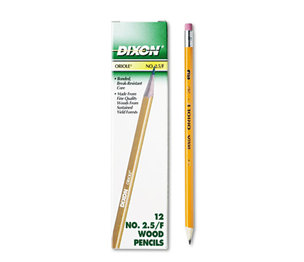 DIXON TICONDEROGA COMPANY 12875 Oriole Woodcase Pencil, F #2.5, Yellow Barrel, 12/Pack by DIXON TICONDEROGA CO.
