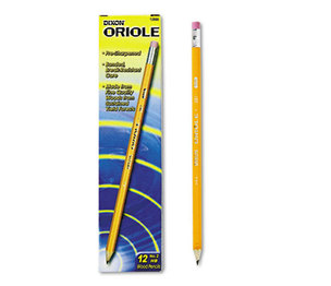 DIXON TICONDEROGA COMPANY 12886 Oriole Woodcase Presharpened Pencil, HB #2, Yellow, Dozen by DIXON TICONDEROGA CO.