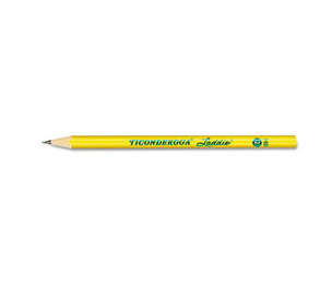 DIXON TICONDEROGA COMPANY 13040 Ticonderoga Laddie Woodcase Pencil w/o Eraser, HB #2, Yellow Barrel, Dozen by DIXON TICONDEROGA CO.