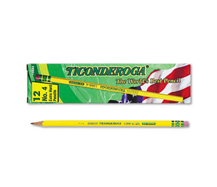 DIXON TICONDEROGA COMPANY 13884 Woodcase Pencil, 2H #4, Yellow Barrel, Dozen by DIXON TICONDEROGA CO.
