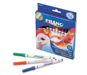 DIXON TICONDEROGA COMPANY 80714 Prang Markers, Fine Point, 12 Assorted Colors, 12/Set by DIXON TICONDEROGA CO.