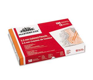 DIXON TICONDEROGA COMPANY 82408 Prang Colored Woodcase Pencils, 3.3 mm, 12 Asstd Colors, 288 Pencils/Box by DIXON TICONDEROGA CO.