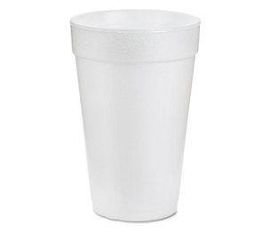 Dart Container Corporation 16J16 Drink Foam Cups, 16oz, White, 25/Bag, 40 Bags/Carton by DART