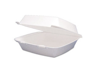Dart Container Corporation DCC 85HT1R Foam Container, Hinged Lid, 1-Comp, 8 3/8 x 7 7/8 x 3 1/4, 200/Carton by DART