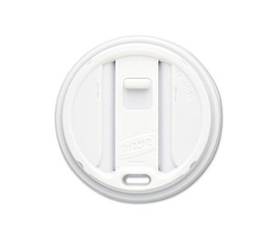 DIXIE FOOD SERVICE TP9542 Reclosable Lids for 12 & 16oz Hot Cups, White, 100 Lids/Pack, 10 Packs/Carton by DIXIE FOOD SERVICE