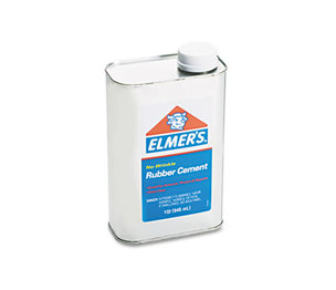 HUNT MFG. 233 Rubber Cement, Repositionable, 1 qt by ELMER'S PRODUCTS, INC.