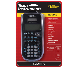 TEXAS INSTRUMENTS INC. 36PROMV/BK TI-36X Pro 4-line Display Scientific Calculator with Engineering, Higher-Level Math and Science Functionality