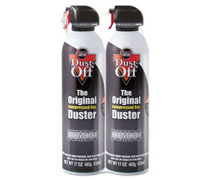FALCON SAFETY PRODUCTS, INC DPSJMB2 Disposable Compressed Gas Duster, 17 oz Cans, 2/Pack by FALCON SAFETY