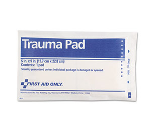 """First Aid Only, Inc FAE-5012 Trauma Pad, 5"""" x 9"""" by FIRST AID ONLY, INC."""