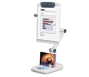 Fellowes, Inc 21128 Flex Arm Weighted Base Copyholder, Plastic, 150 Sheet Capacity, Platinum by FELLOWES MFG. CO.