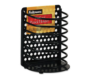Fellowes, Inc 22307 Perf-Ect Pencil Cup, Metal, 3 1/2 x 3 x 4 7/8, Black by FELLOWES MFG. CO.