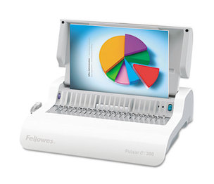 Fellowes, Inc 5216701 Pulsar Comb Binding System, 300 Sheets, 17 x 15 3/8 x 5 1/8, White by FELLOWES MFG. CO.