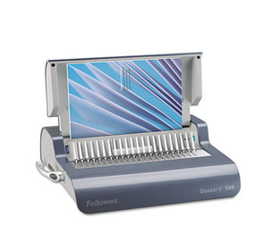Fellowes, Inc FEL5216901 Quasar Comb Binding System, 500 Sheets, 16 7/8 x 15 3/8 x 5 1/8, Metallic Gray by FELLOWES MFG. CO.